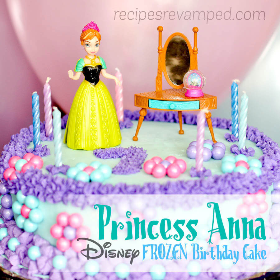 Disney Frozen Princess Anna Birthday Cake Recipe - Recipes Revamped