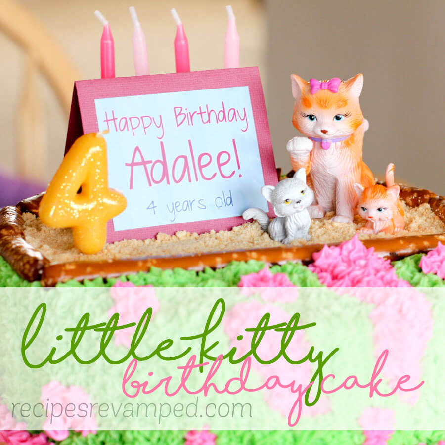 Little Kitty Birthday Cake Recipe - Recipes Revamped