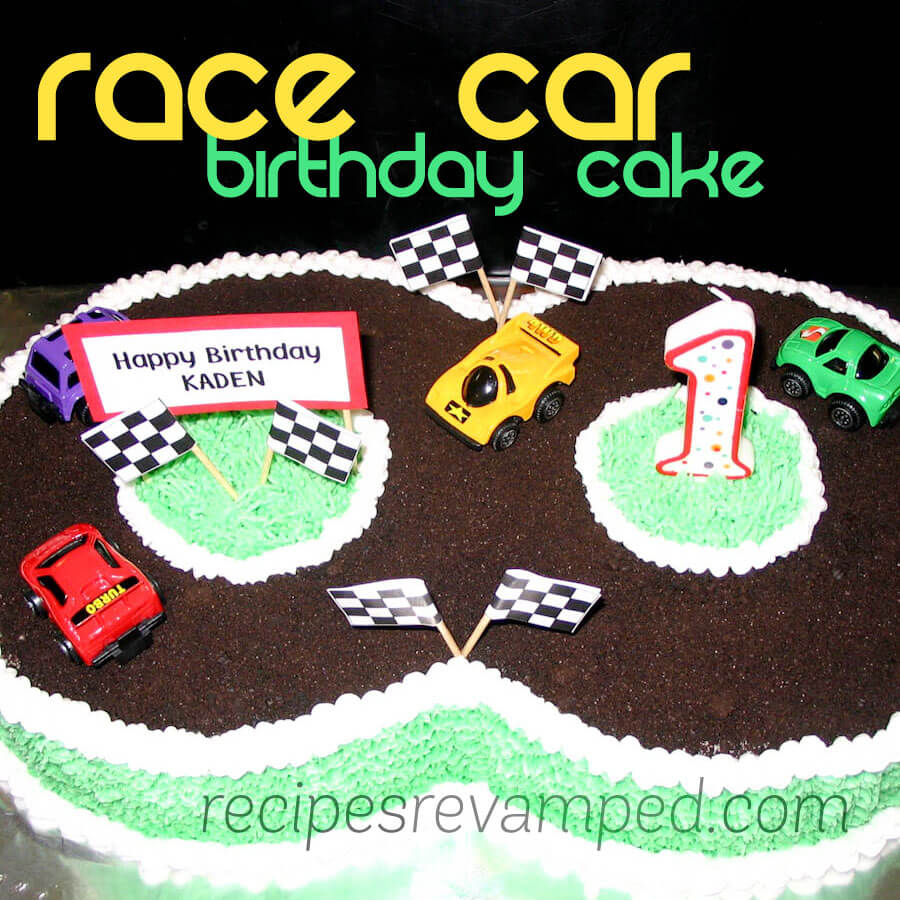 Race Car & Race Track Birthday Cake Recipe - Recipes Revamped