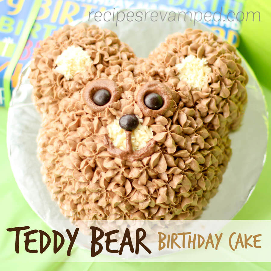 Teddy Bear Birthday Cake Recipe - Recipes Revamped