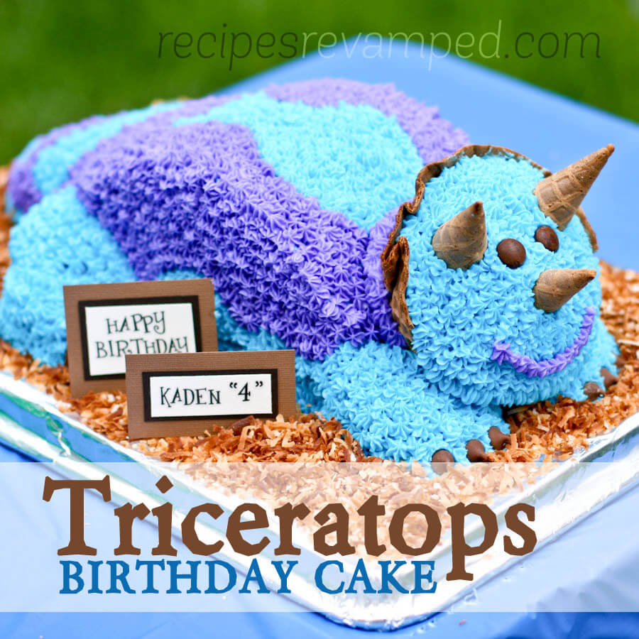 Triceratops Dinosaur Birthday Cake Recipe - Recipes Revamped