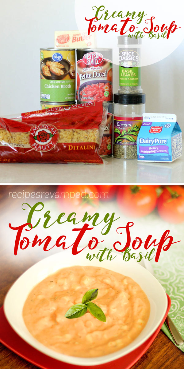 Creamy Tomato Soup with Basil Recipe - Recipes Revamped