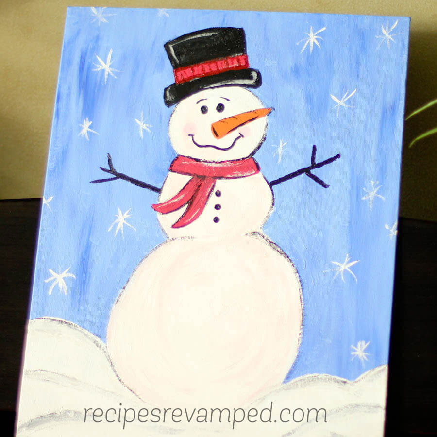 Snowman Painting Recipe - Recipes Revamped