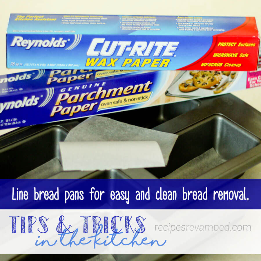 Line Bread Pans of Sweet Breads for Easy Removal Recipe - Recipes Revamped