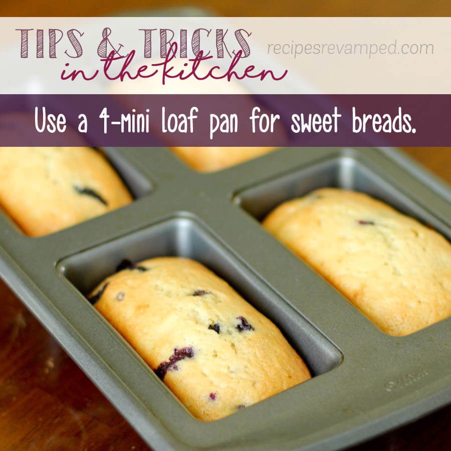 Using a Mini Loaf Pan for Sweet Breads Recipe - Recipes Revamped
