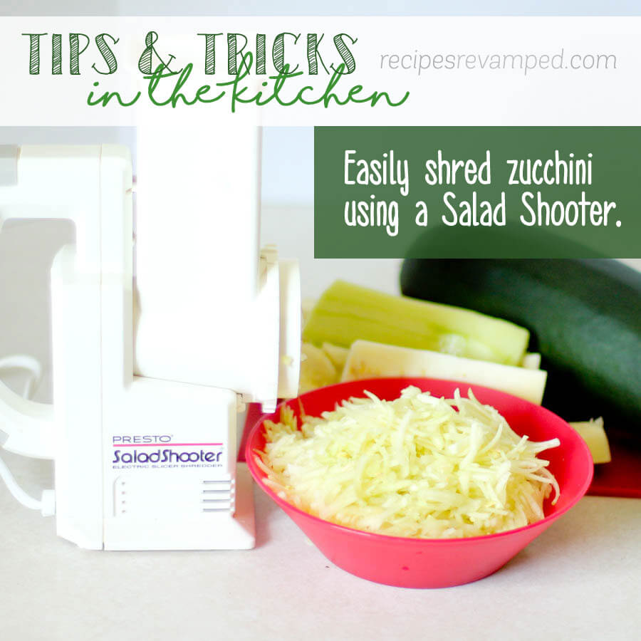 Easily Shred Zucchini Using a Salad Shooter Recipe - Recipes Revamped