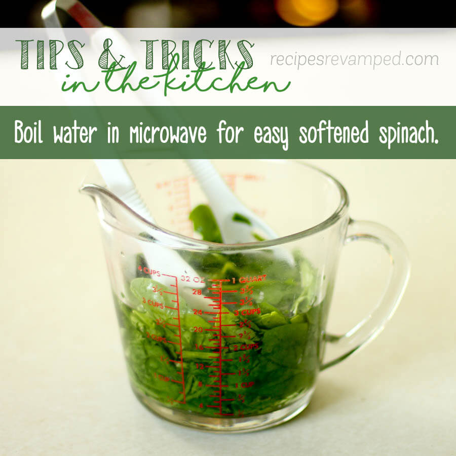 Softened Spinach with Microwave Recipe - Recipes Revamped